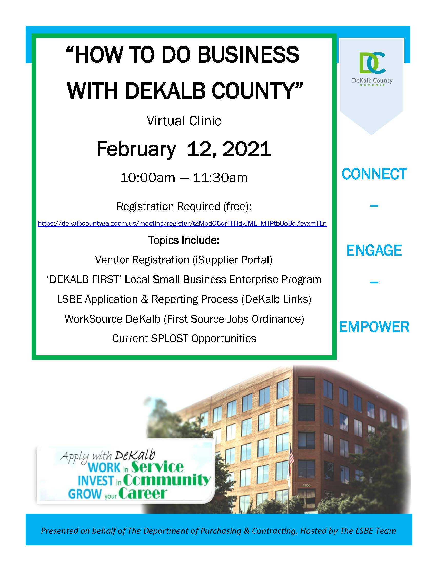 HOW TO DO BUSINESS WITH DEKALB COUNTY