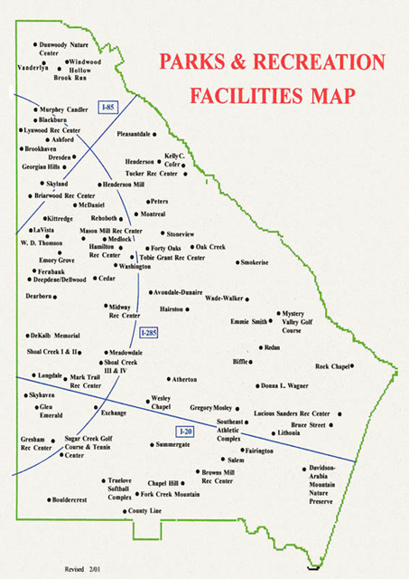 Parks and Recreation Facilities Map