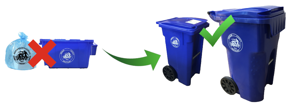 Recycling Roll Cart