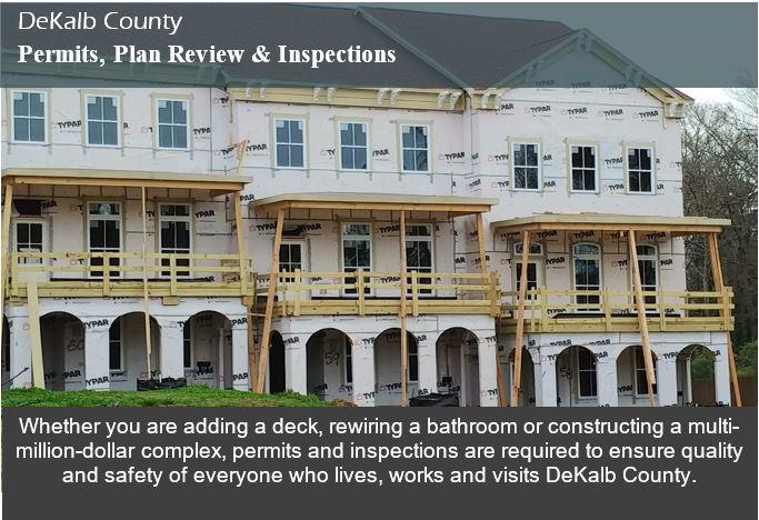 Permits Plan Review Inspections Dekalb County Ga