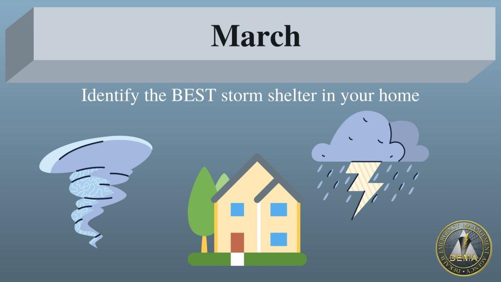 March Prep Tip - Best Storm shelter in your house